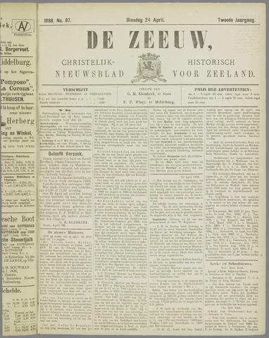 De Zeeuw. Christelijk-historisch nieuwsblad voor Zeeland 1888-04-24