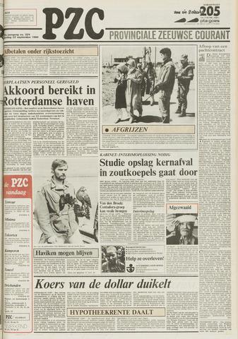 Provinciale Zeeuwse Courant 1984-09-22