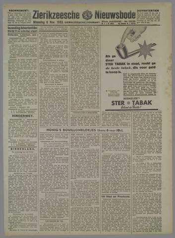 Zierikzeesche Nieuwsbode 1933-11-06