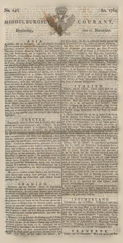 Middelburgsche Courant 1764-11-22
