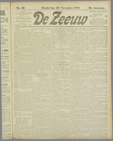 De Zeeuw. Christelijk-historisch nieuwsblad voor Zeeland 1916-11-30