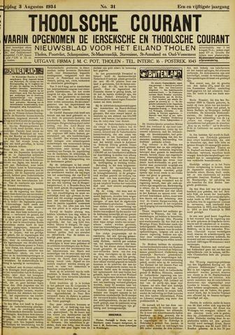 Ierseksche en Thoolsche Courant 1934-08-03