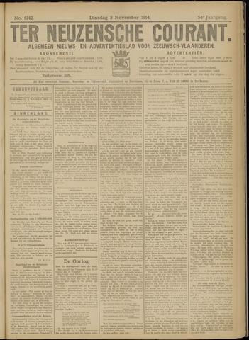 Ter Neuzensche Courant. Algemeen Nieuws- en Advertentieblad voor Zeeuwsch-Vlaanderen / Neuzensche Courant ... (idem) / (Algemeen) nieuws en advertentieblad voor Zeeuwsch-Vlaanderen 1914-11-03