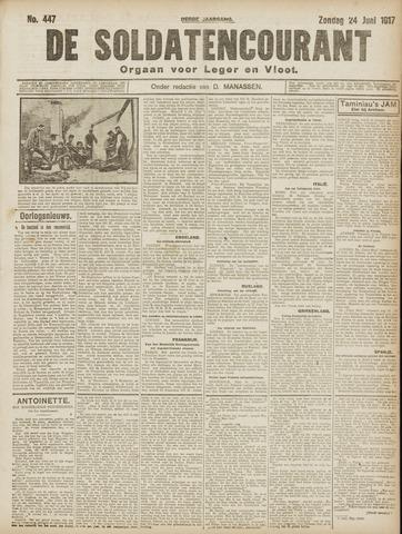 De Soldatencourant. Orgaan voor Leger en Vloot 1917-06-24