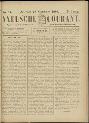 Axelsche Courant 1886-09-18