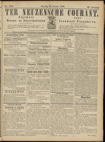 Ter Neuzensche Courant. Algemeen Nieuws- en Advertentieblad voor Zeeuwsch-Vlaanderen / Neuzensche Courant ... (idem) / (Algemeen) nieuws en advertentieblad voor Zeeuwsch-Vlaanderen 1906-01-30