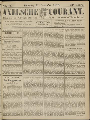 Axelsche Courant 1918-12-21