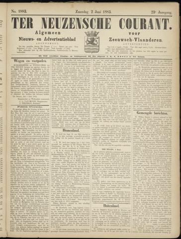 Ter Neuzensche Courant. Algemeen Nieuws- en Advertentieblad voor Zeeuwsch-Vlaanderen / Neuzensche Courant ... (idem) / (Algemeen) nieuws en advertentieblad voor Zeeuwsch-Vlaanderen 1883-06-02
