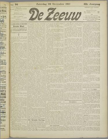 De Zeeuw. Christelijk-historisch nieuwsblad voor Zeeland 1917-12-29