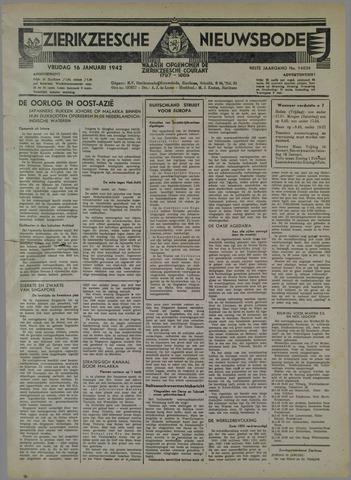 Zierikzeesche Nieuwsbode 1942-01-16