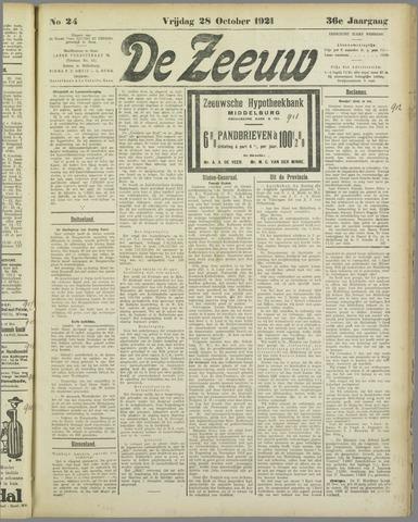 De Zeeuw. Christelijk-historisch nieuwsblad voor Zeeland 1921-10-28