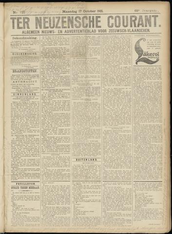 Ter Neuzensche Courant. Algemeen Nieuws- en Advertentieblad voor Zeeuwsch-Vlaanderen / Neuzensche Courant ... (idem) / (Algemeen) nieuws en advertentieblad voor Zeeuwsch-Vlaanderen 1921-10-17