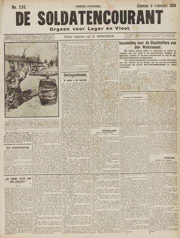 De Soldatencourant. Orgaan voor Leger en Vloot 1916-02-06
