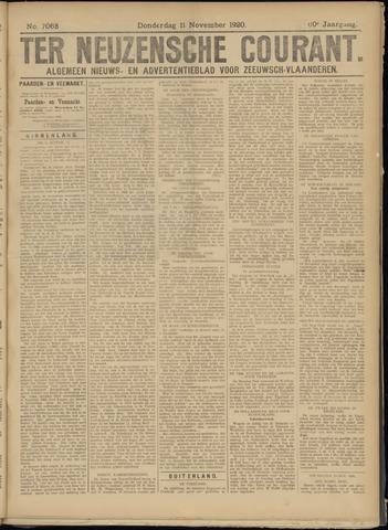 Ter Neuzensche Courant. Algemeen Nieuws- en Advertentieblad voor Zeeuwsch-Vlaanderen / Neuzensche Courant ... (idem) / (Algemeen) nieuws en advertentieblad voor Zeeuwsch-Vlaanderen 1920-11-11