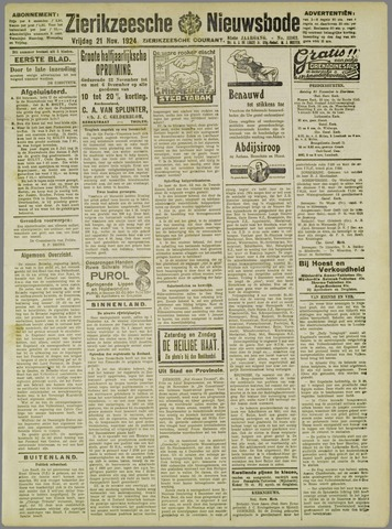 Zierikzeesche Nieuwsbode 1924-11-21