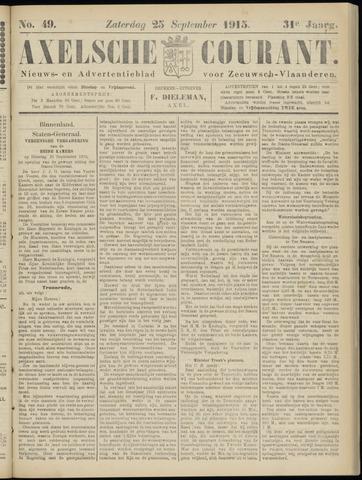 Axelsche Courant 1915-09-25