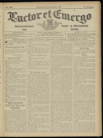 Luctor et Emergo. Antirevolutionair nieuws- en advertentieblad voor Zeeland / Zeeuwsch-Vlaanderen. Orgaan ter verspreiding van de christelijke beginselen in Zeeuwsch-Vlaanderen 1913-11-12