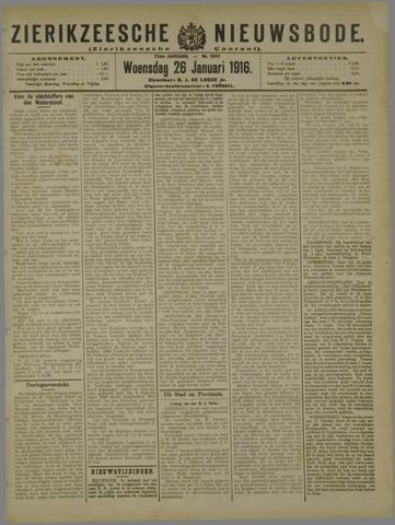Zierikzeesche Nieuwsbode 1916-01-26
