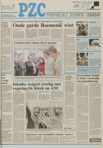 Provinciale Zeeuwse Courant 1992-09-28
