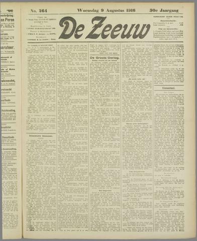 De Zeeuw. Christelijk-historisch nieuwsblad voor Zeeland 1916-08-09