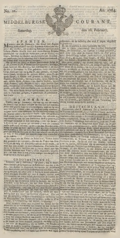 Middelburgsche Courant 1764-02-18