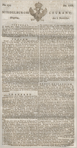 Middelburgsche Courant 1768-11-08