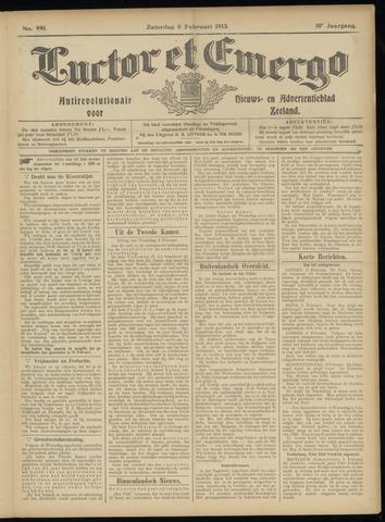 Luctor et Emergo. Antirevolutionair nieuws- en advertentieblad voor Zeeland / Zeeuwsch-Vlaanderen. Orgaan ter verspreiding van de christelijke beginselen in Zeeuwsch-Vlaanderen 1913-02-08