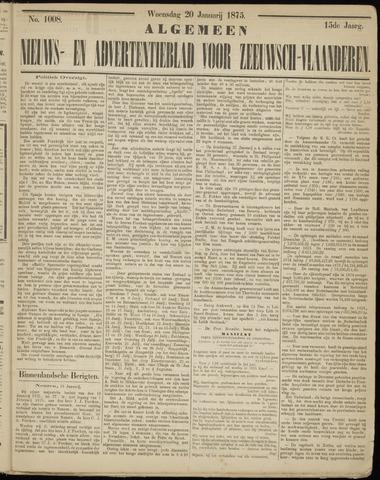 Ter Neuzensche Courant. Algemeen Nieuws- en Advertentieblad voor Zeeuwsch-Vlaanderen / Neuzensche Courant ... (idem) / (Algemeen) nieuws en advertentieblad voor Zeeuwsch-Vlaanderen 1875-01-20