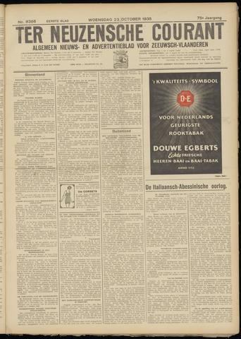 Ter Neuzensche Courant. Algemeen Nieuws- en Advertentieblad voor Zeeuwsch-Vlaanderen / Neuzensche Courant ... (idem) / (Algemeen) nieuws en advertentieblad voor Zeeuwsch-Vlaanderen 1935-10-23