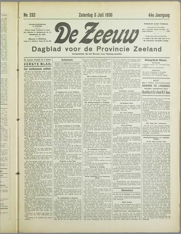 De Zeeuw. Christelijk-historisch nieuwsblad voor Zeeland 1930-07-05