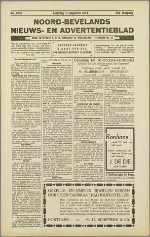 Noord-Bevelands Nieuws- en advertentieblad 1934-08-11