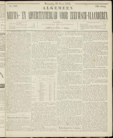 Ter Neuzensche Courant. Algemeen Nieuws- en Advertentieblad voor Zeeuwsch-Vlaanderen / Neuzensche Courant ... (idem) / (Algemeen) nieuws en advertentieblad voor Zeeuwsch-Vlaanderen 1873-03-26