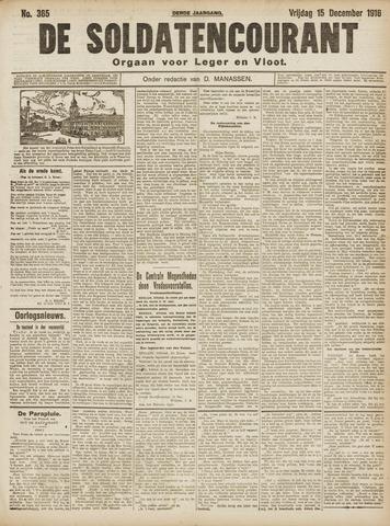De Soldatencourant. Orgaan voor Leger en Vloot 1916-12-15