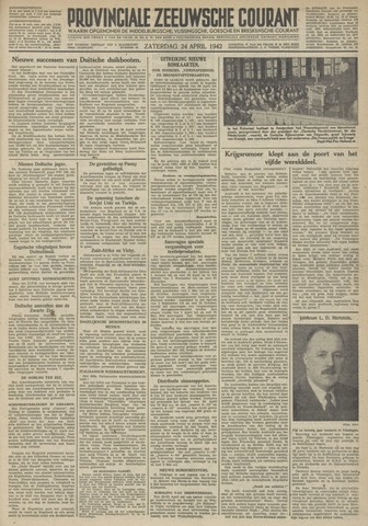 Provinciale Zeeuwse Courant 1942-04-25