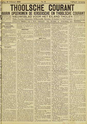 Ierseksche en Thoolsche Courant 1933-02-10