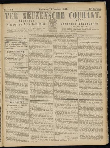 Ter Neuzensche Courant. Algemeen Nieuws- en Advertentieblad voor Zeeuwsch-Vlaanderen / Neuzensche Courant ... (idem) / (Algemeen) nieuws en advertentieblad voor Zeeuwsch-Vlaanderen 1903-12-24