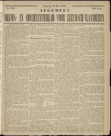 Ter Neuzensche Courant. Algemeen Nieuws- en Advertentieblad voor Zeeuwsch-Vlaanderen / Neuzensche Courant ... (idem) / (Algemeen) nieuws en advertentieblad voor Zeeuwsch-Vlaanderen 1873-05-10