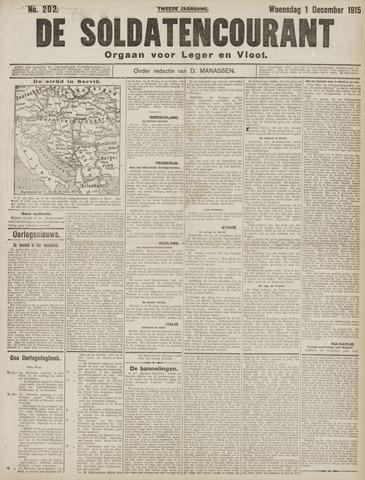 De Soldatencourant. Orgaan voor Leger en Vloot 1915-12-01