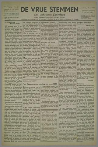 Vrije Stemmen van Schouwen-Duiveland, tevens mededeelingenblad Militair Gezag 1945-07-26