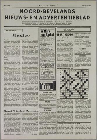 Noord-Bevelands Nieuws- en advertentieblad 1986-04-17