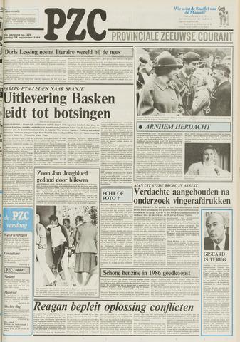 Provinciale Zeeuwse Courant 1984-09-24