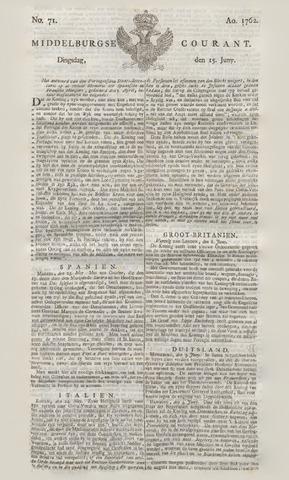 Middelburgsche Courant 1762-06-15