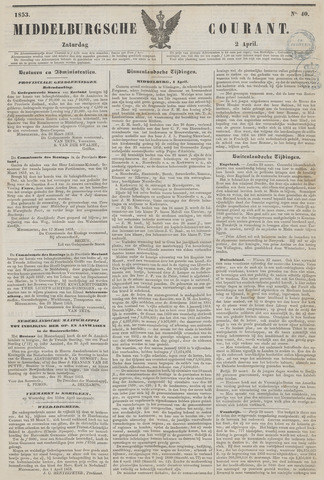 Middelburgsche Courant 1853-04-02