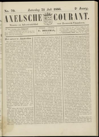 Axelsche Courant 1886-07-31