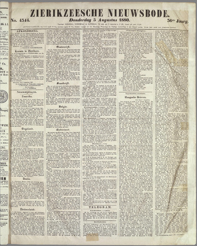 Zierikzeesche Nieuwsbode 1880-08-05