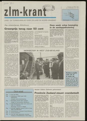 Zeeuwsch landbouwblad ... ZLM land- en tuinbouwblad 1993-04-23