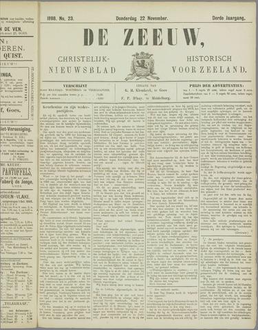 De Zeeuw. Christelijk-historisch nieuwsblad voor Zeeland 1888-11-22