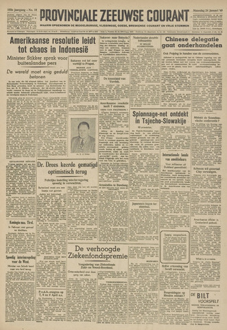 Provinciale Zeeuwse Courant 1949-01-24
