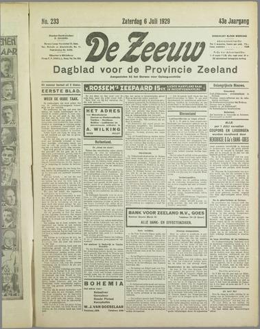 De Zeeuw. Christelijk-historisch nieuwsblad voor Zeeland 1929-07-06