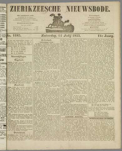 Zierikzeesche Nieuwsbode 1855-07-14